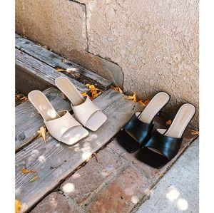 Shoes - 🚨END OF SUMMER SALE// square toe mule Black